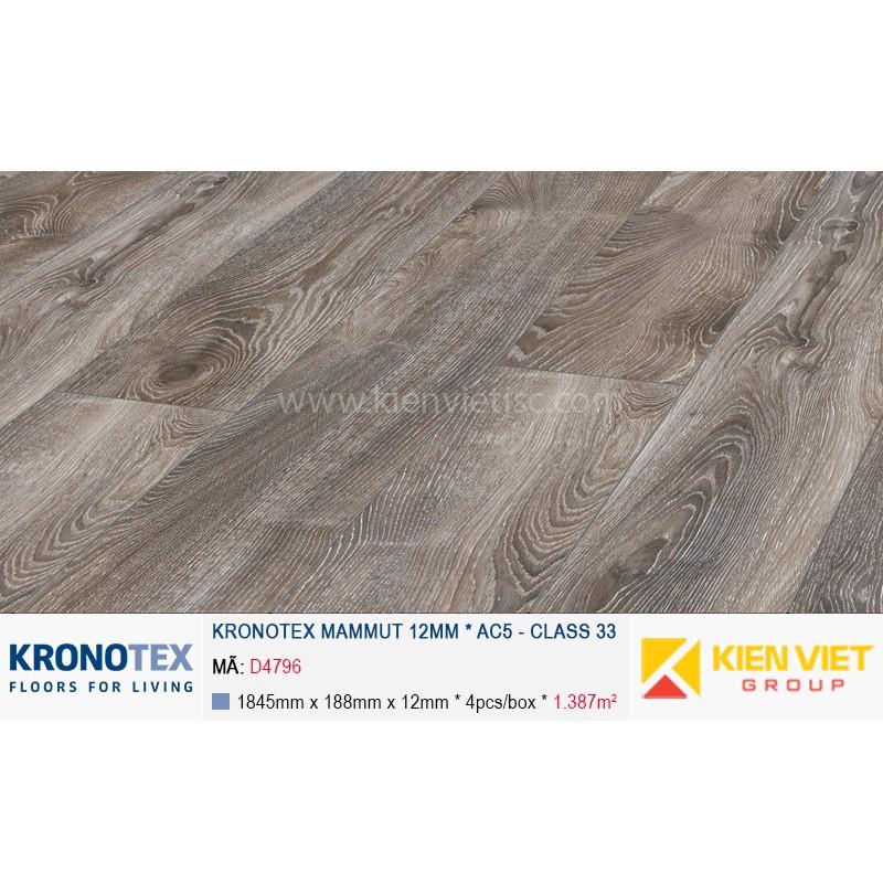 Sàn gỗ Kronotex Mammut D4796 Highland Oak Titan | 12mm