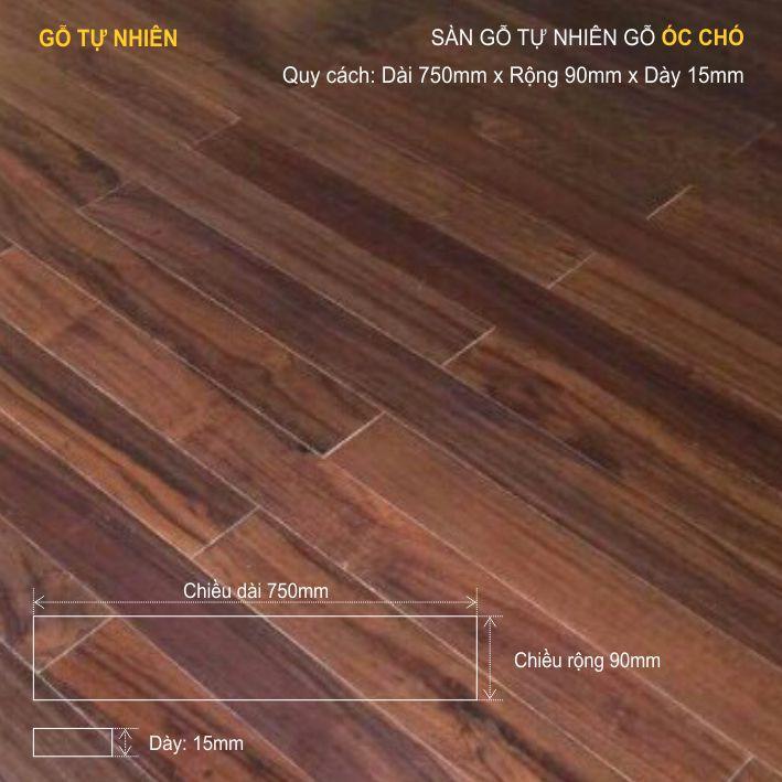 Sàn gỗ tự nhiên Chiu Liu 750x15mm