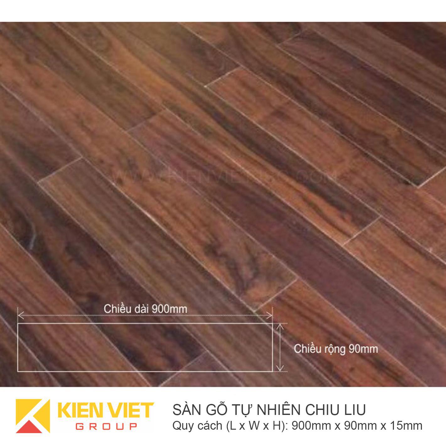 Sàn gỗ tự nhiên Chiu Liu 900x15mm