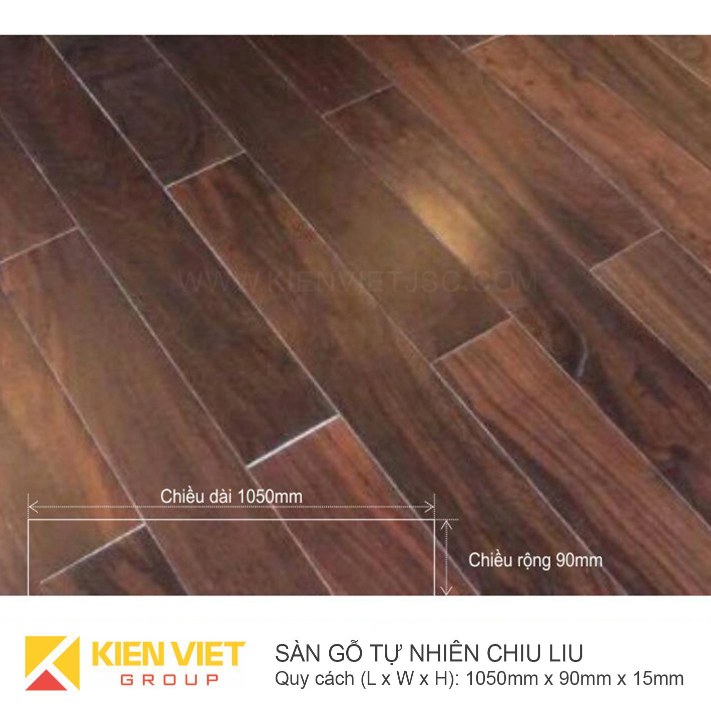 Sàn gỗ tự nhiên Chiu Liu 1050x15m