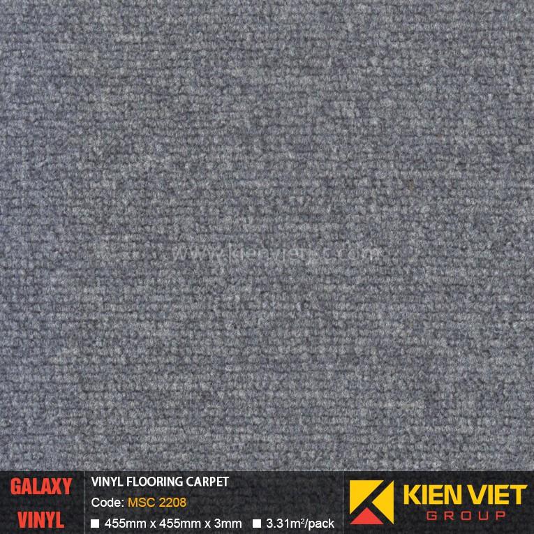 Sàn nhựa dán keo Galaxy vân thảm MSC 2208 | 3mm