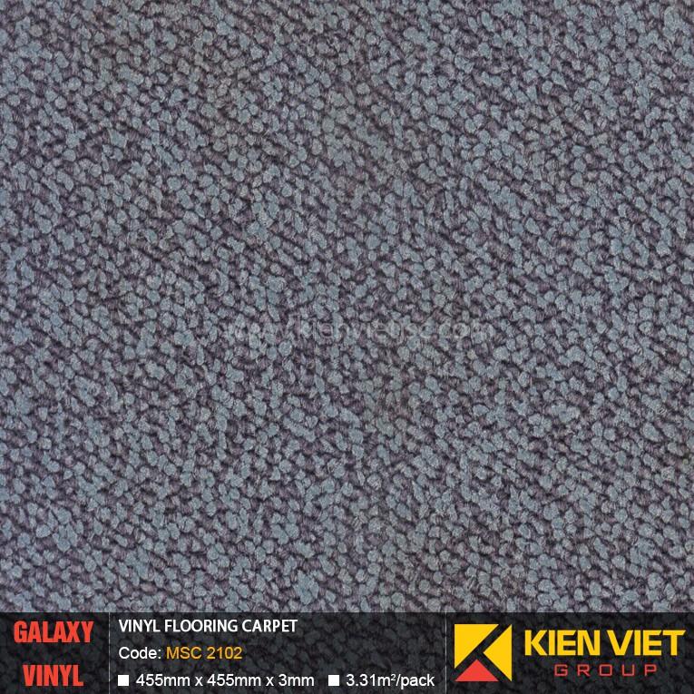 Sàn nhựa dán keo Galaxy vân thảm MSC 2102