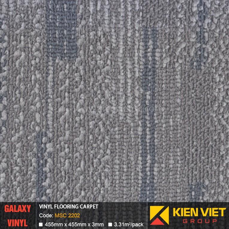 Sàn nhựa dán keo Galaxy vân thảm MSC 2202 | 3mm