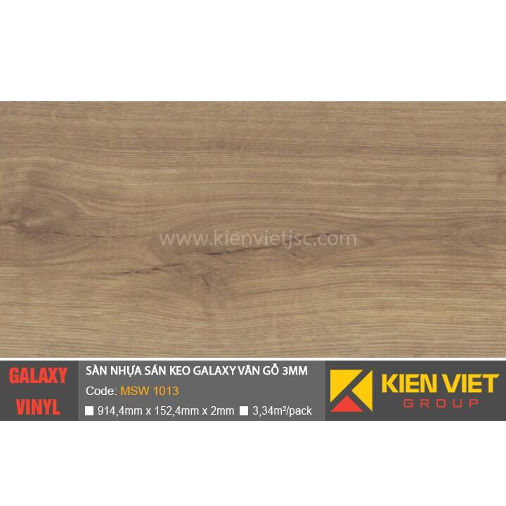 Sàn nhựa dán keo Galaxy vân gỗ MSW1013 | 3mm