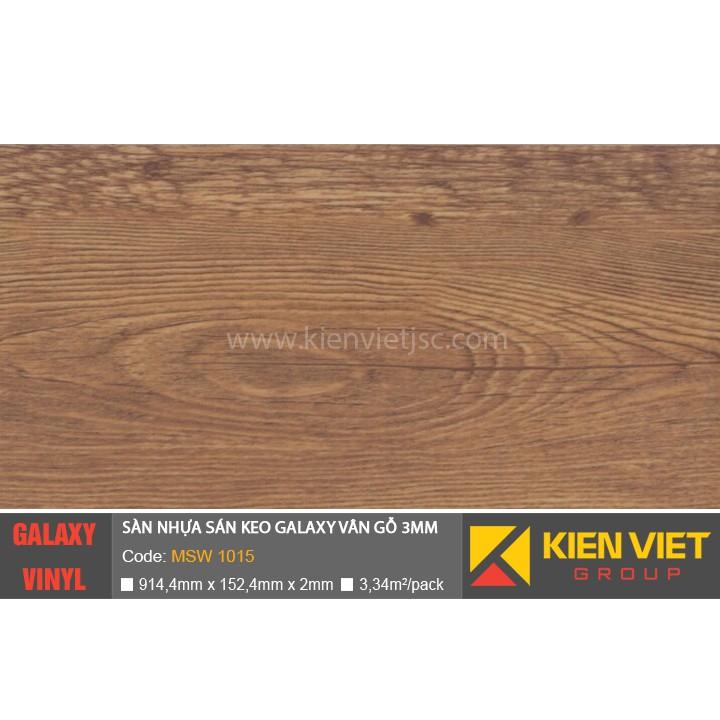 Sàn nhựa dán keo Galaxy vân gỗ MSW 1015 | 3mm