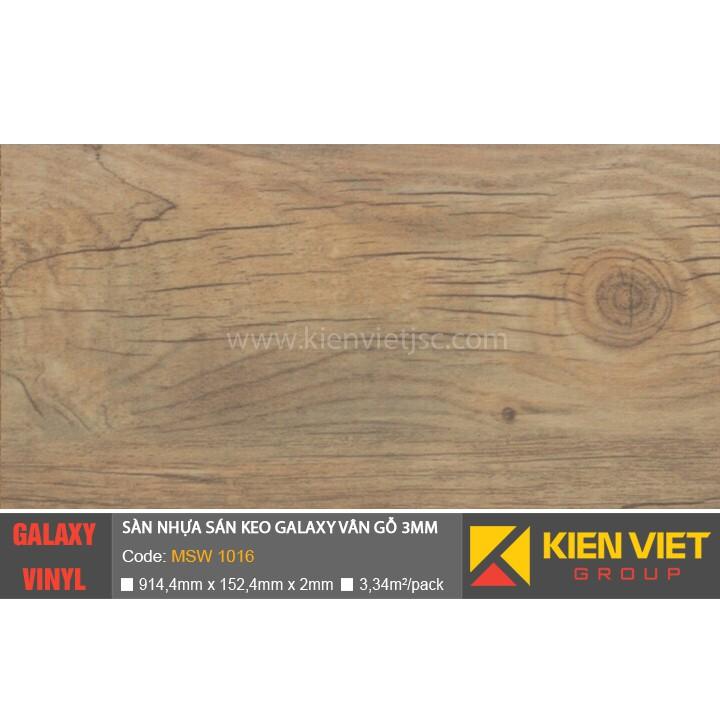 Sàn nhựa dán keo Galaxy vân gỗ MSW1016 | 3mm