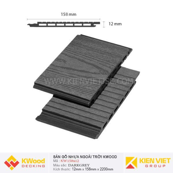 Ốp Tường Kwood KW158x12 Dark Grey