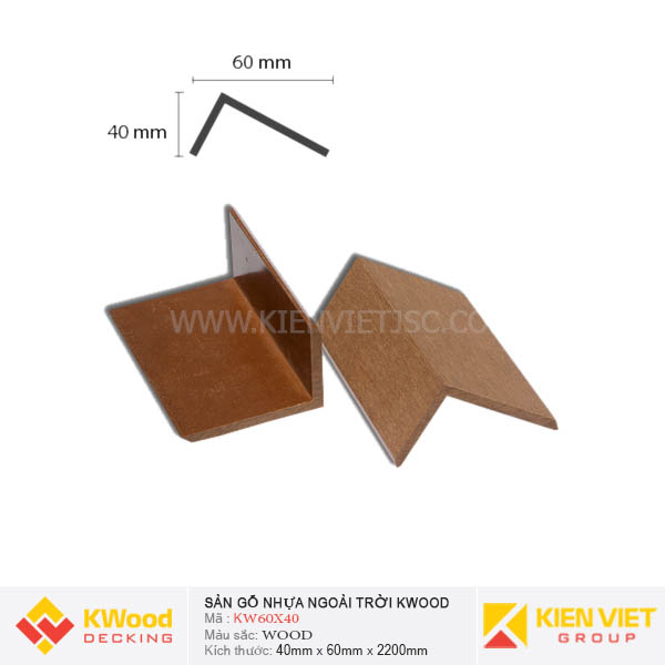 Nẹp Viền Kwood KW60x40 Wood