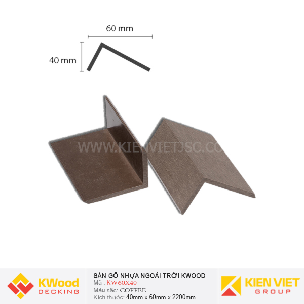 Nẹp Viền Kwood KW60x40 Coffee