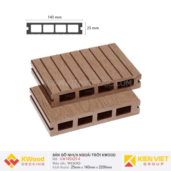 Sàn gỗ ngoài trời Kwood KW145x25 Wood