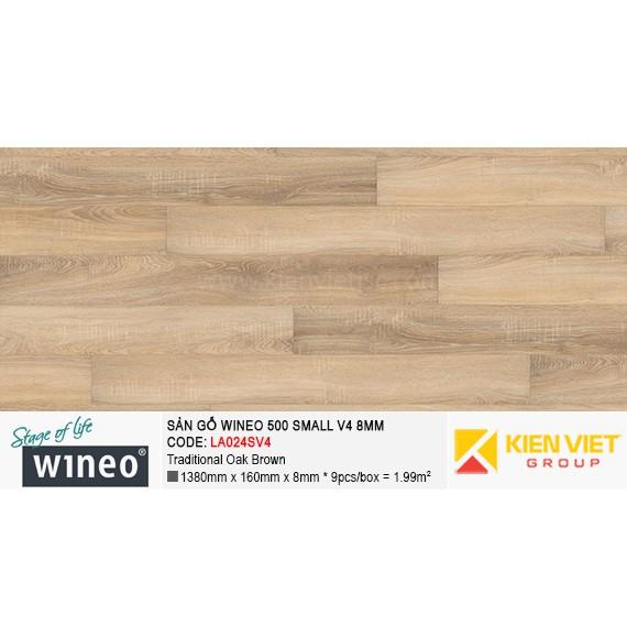 Sàn gỗ Wineo Small 500 V4 - LA024SV4 | Traditional Oak Brown 8mm