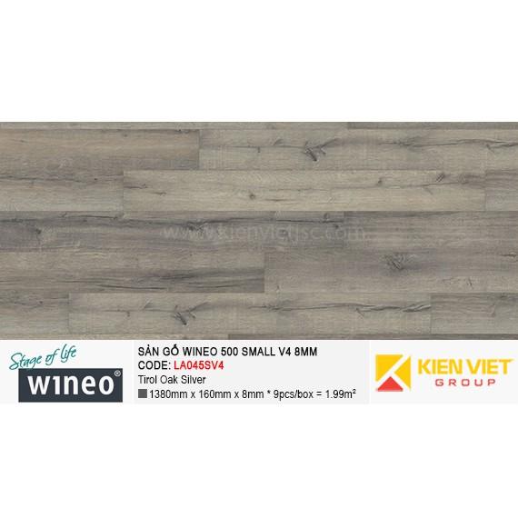 Sàn gỗ Wineo Small 500 V4 -  LA045SV4 | Tirol Oak Silver 8mm