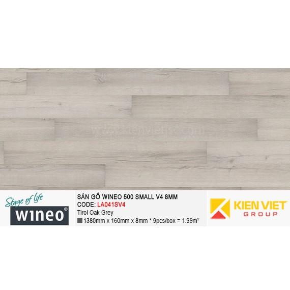 Sàn gỗ Wineo Small 500 V4 - LA041SV4 | Tirol Oak Grey 8mm