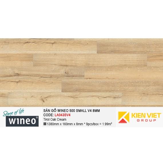 Sàn gỗ Wineo Small 500 V4 - LA043SV4 | Tirol Oak Cream 8mm