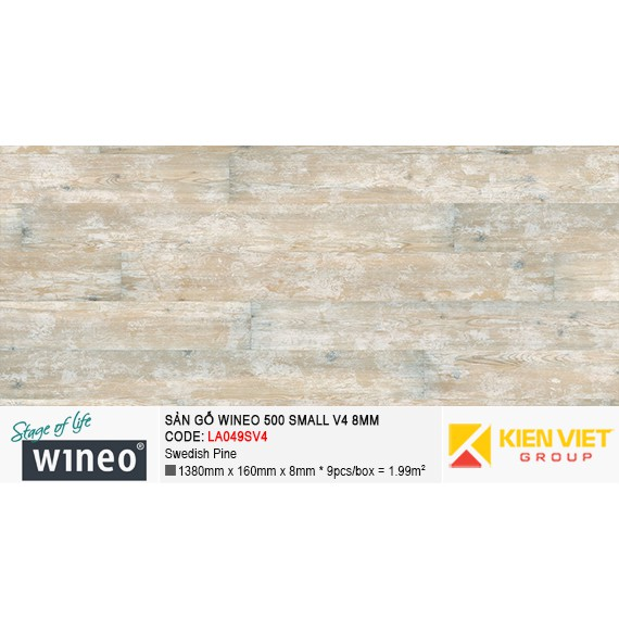 Sàn gỗ Wineo Small 500 V4 - LA049SV4 | Swedish Pine 8mm