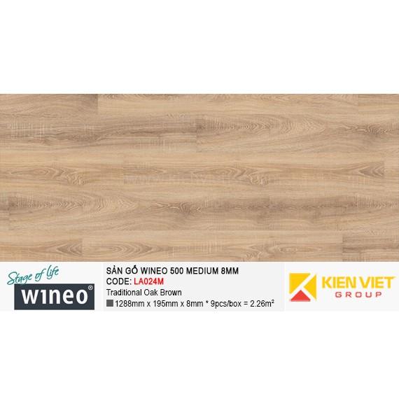 Sàn gỗ Wineo 500 Medium - LA024M | Traditional Oak Brown 8mm