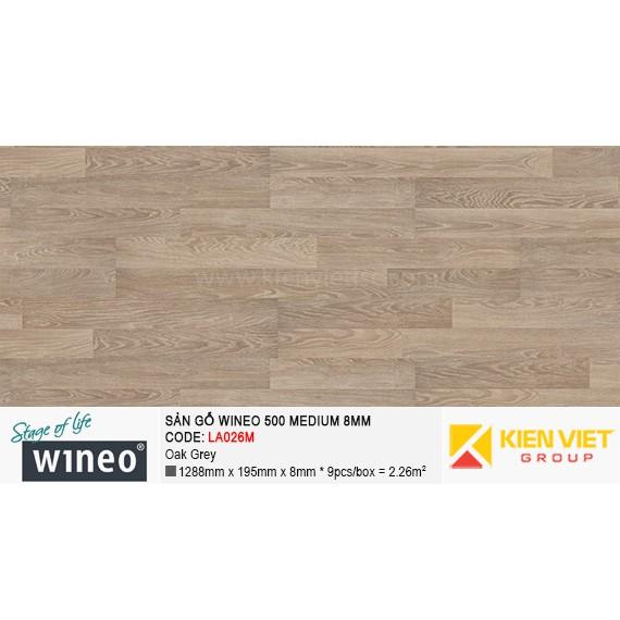 Sàn gỗ Wineo 500 Medium - LA026M | Oak Grey 8mm