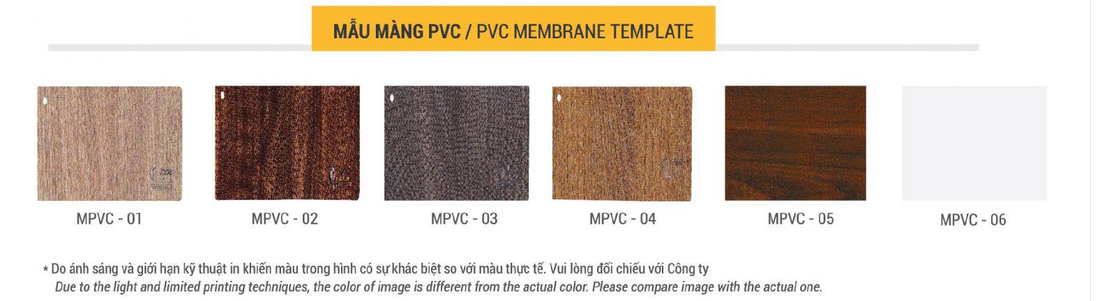Mẫu màng PVC